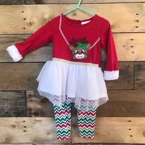Reindeer Red Green Outfit